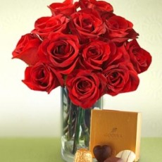 Image of Love, Roses and Chocolates