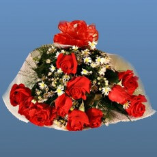 Image of Bouquet of red roses